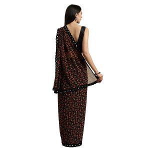 Black Georgette with Blouse Piece