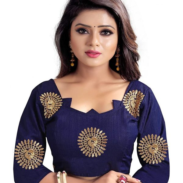 Fashion Women's Silk Saree With Unstitched Blouse