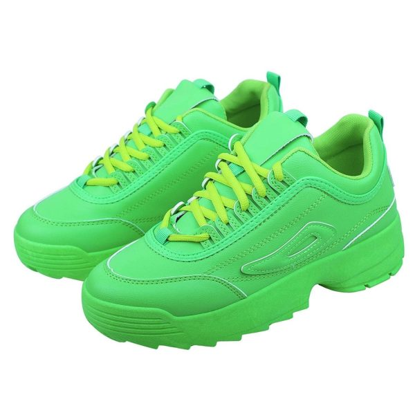 Latest Ladies Inner High Heel Sports Lace Running Shoes,Super Soft and Comfortable Sneakers