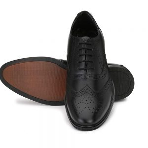 Mens Genuine Leather Formal Business Wingtip Brogue Oxford Shoes