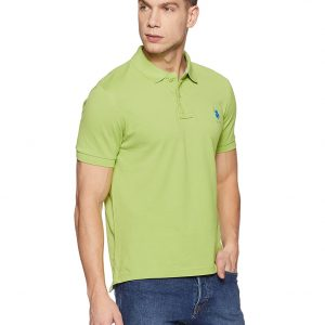 Men's Solid Regular Fit Polo T-Shirt