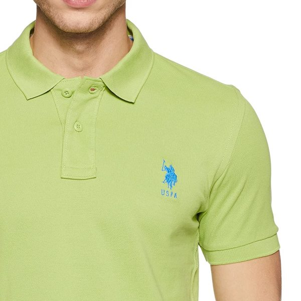 Men's Solid Regular Fit Polo