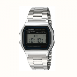 Vintage Series Digital Grey Small Rectangle Dial Unisex Watch